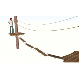 Snake path plank incl. wire rope holder (0.24 m x 1.5 m)