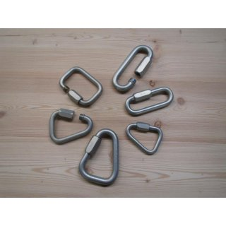 Quick Links, galvanised and powder-coated steel - Different shapes