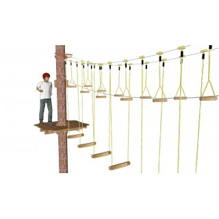 Hanging grip 5 x 25 cm (incl. rope)